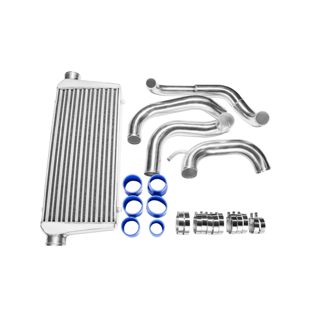 Tube & Fin FMIC Intercooler Piping Kit For 89-99 Nissan
