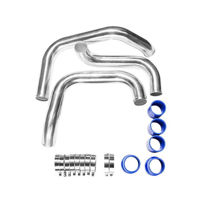 Tube & Fin Front Mount Intercooler Piping Kit For Nissan