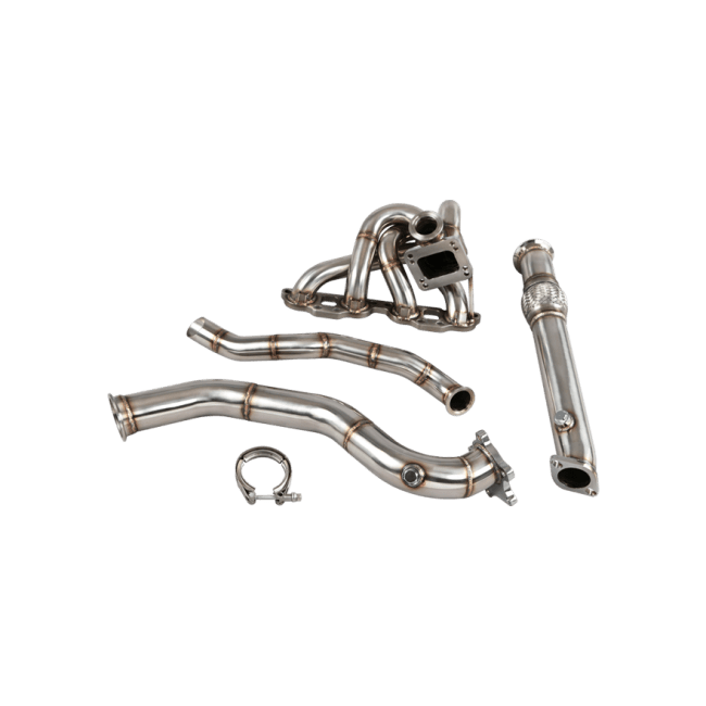 Top Mount Turbo Manifold + Downpipe For 90-98 Mazda Miata