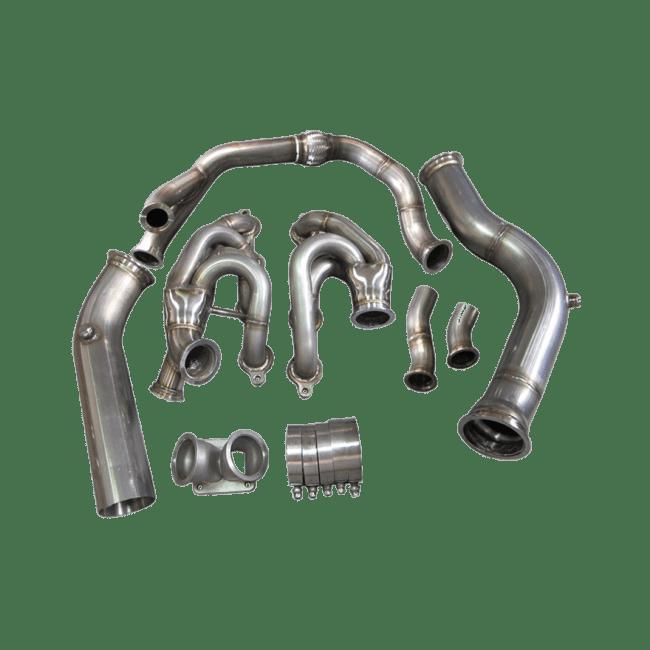Single Turbo Manifold 3.5''Downpipe For 240SX S13 S14 LS1