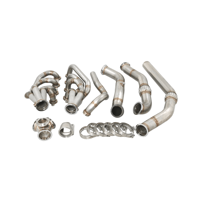 LS LS1 Turbo Manifold Header Downpipe Kit For 67-72