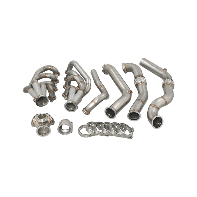 Turbo Header Manifold Downpipe Kit For 82-92 Camaro LS1