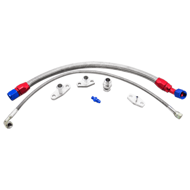 Turbo Oil Line Feed Drain Return Kit For Mazda Miata NA NB
