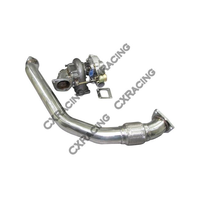 Turbo Kit + Intercooler Downpipe Oil Line For 1986-1992