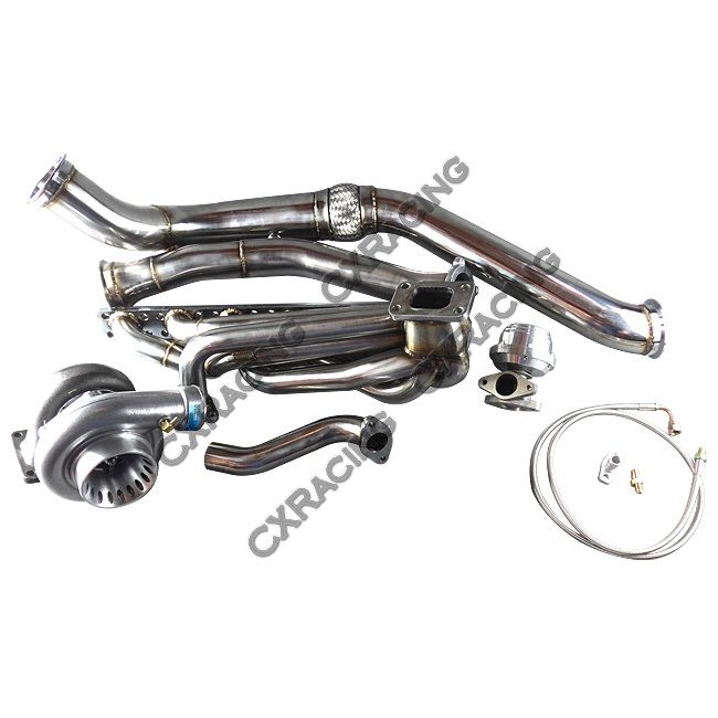 GT35 Turbo Manifold Downpipe Kit for BMW E46 M52 Engine NA