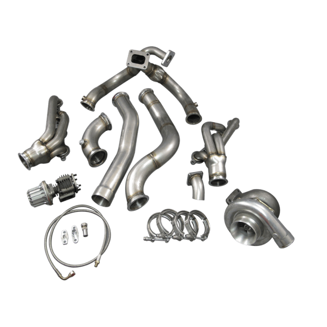T76 Turbo Manifold Header Downpipe Wastegate Kit For 98-02