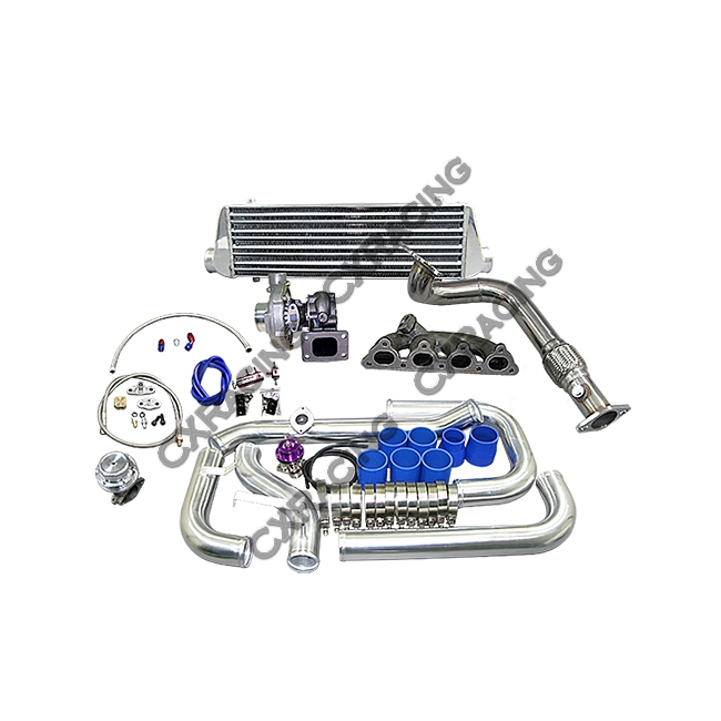 Turbo Intercooler Kit For 92-00 Honda Civic with D15 D16 D