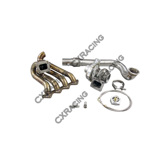 T67 T4 Turbo Charger Kit Top Mount Manifold For Civic D15