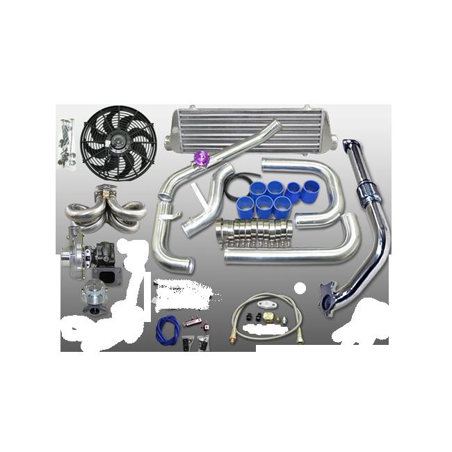 Turbo Kit For 92-00 Honda Civic D15 D16 Engine Tube & Fin