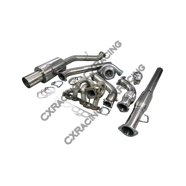 T3 GT35 Turbo Manifold CatBack Downpipe Kit For Datsun 510