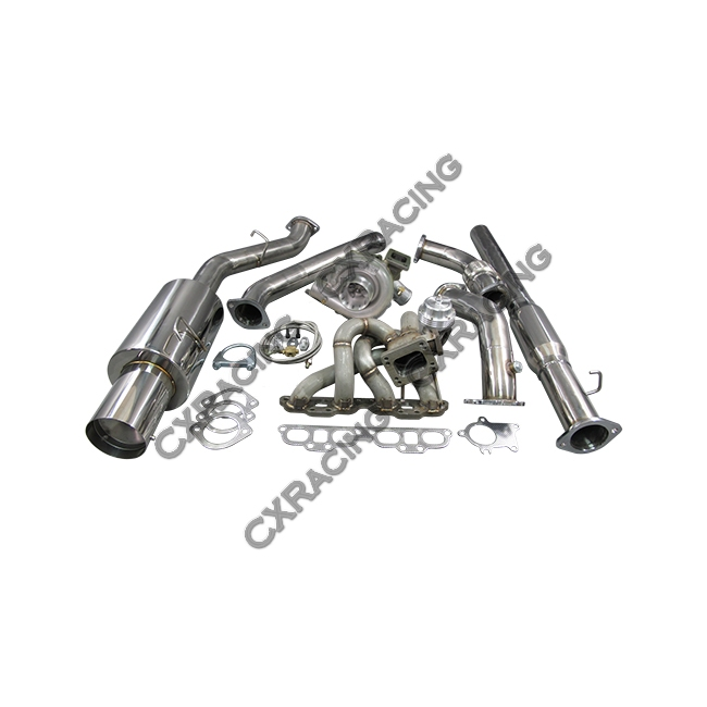 T04E Turbo Manifold CatBack Downpipe Kit For Datsun 510