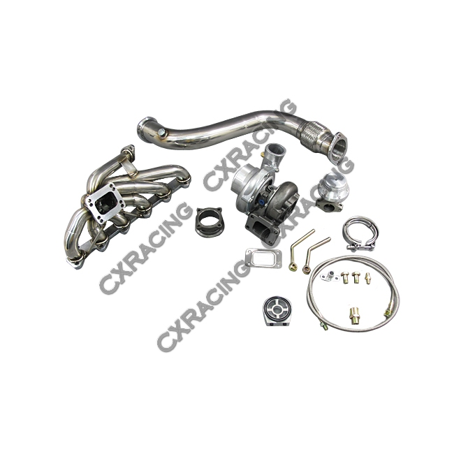 Turbo Intercooler Piping Downpipe Kit For 84-91 BMW E30