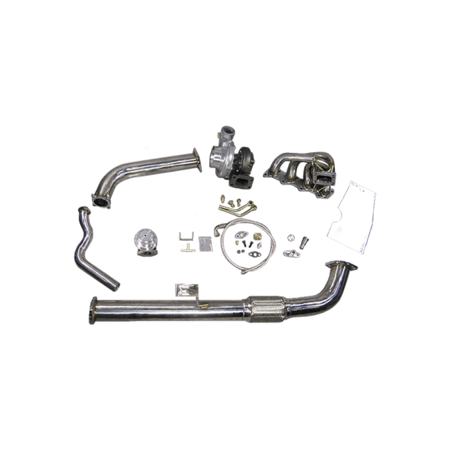 Top Mount GT35 Turbo Kit + FM Intercooler kit For 240SX
