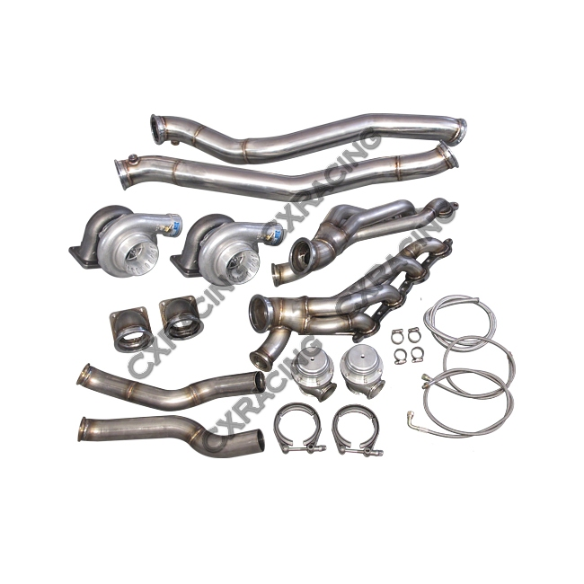 Twin Turbo Manifold Downpipe Kit for 86-92 Supra MK3 LS1