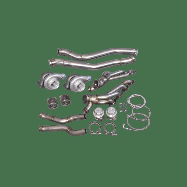 Twin Turbo Manifold Downpipe Kit for 86-92 Supra MK3 LS1