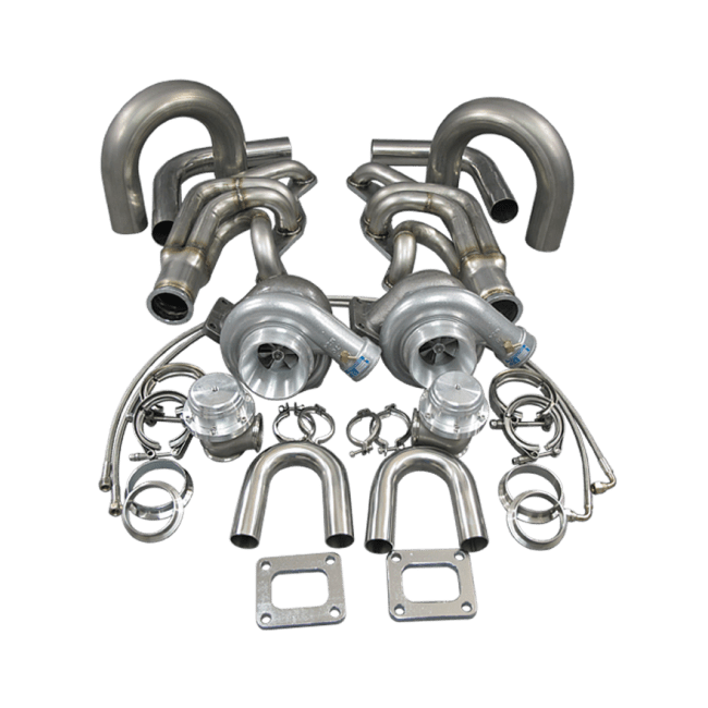 GT35 Twin Turbo DIY Kit For Small Block Chevy SBC GM 302