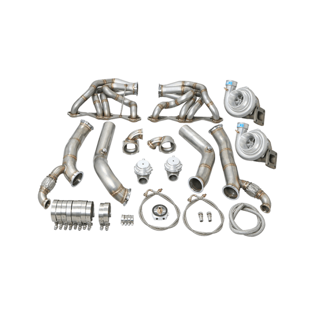 Twin Turbo Header Downpipe Kit For 60-66 Chevy C10 Truck