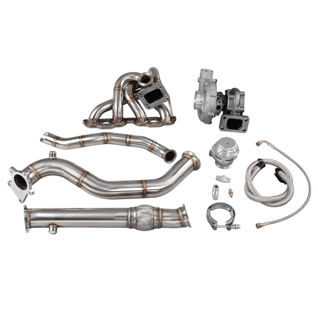 Top Mount T3 Turbo Manifold Downpipe For 90-98 Miata