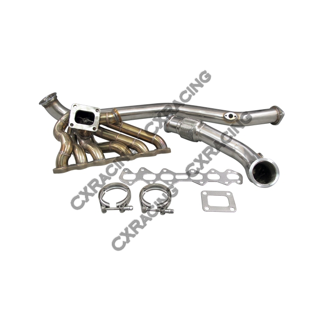Turbo Kit Manifold + Downpipe For 93-02 Toyota Supra MK4