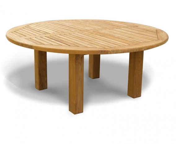 titan 6ft solid teak round patio table 1 8m