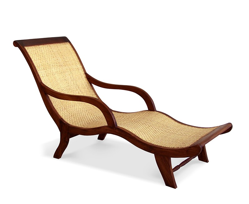 making adirondack chair cushions leather lift chairs covered by medicare capri chaise lounge, reclaimed teak and natural rattan