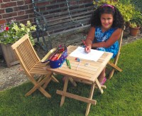 Children's Wooden Table & Chairs, Kids' Outdoor Patio ...