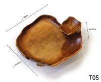 Wabi Sabi Teak Fruit Bowl, Rustic Bowl