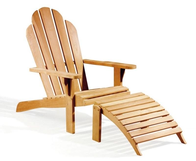Adirondack Chair Teak wood with leg rest