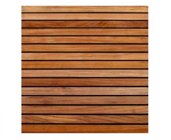 set of 4 teak decking tiles standard