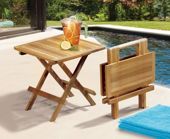 ashdown teak square folding picnic table
