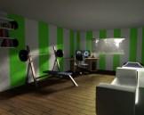 der Raum wurde verlängert und noch mehr Objekte eingestellt.