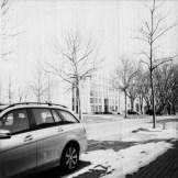 der Europaplatz mit meiner Rolleiflex T1 fotografiert