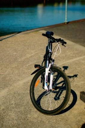 Fahrrad am Hafen