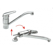 Robinetterie rabattable mitigeur et mlangeur de cuisines sous fentre avec ou sans douchette