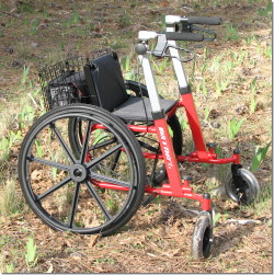 walker roller chair pedicure no plumbing review of walk n all terrain outdoor rolling and walknchair
