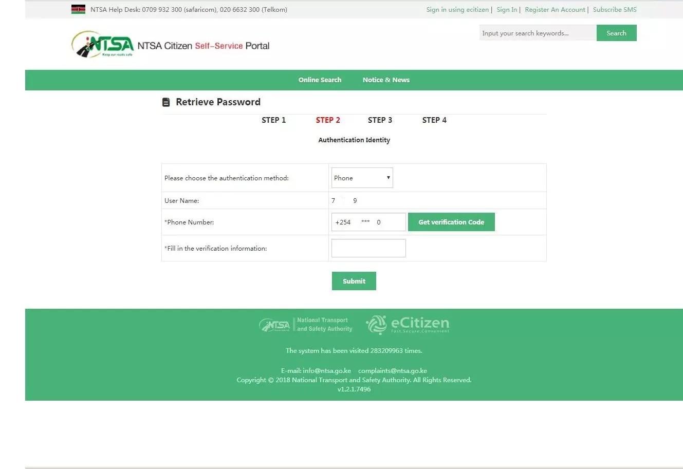 ntsa tims authentication identity