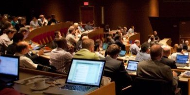 Computers in crowd at Summit 2011