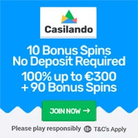 Casilando 10 Bonus Spins on Book of Dead
