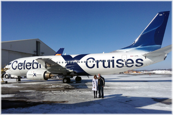 Crystal Cruises was not the first to have its own plane! This aircraft was used for all-inclusive cruises from Canada