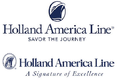 Holland America Line: the new (above) and the old logo