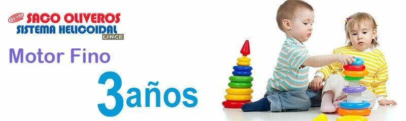 Separatas de Motor Fino para niños de tres años