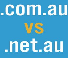 What is the difference between a .com.au and .net.au domain name?