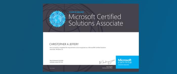 Windows 10 Charter certification