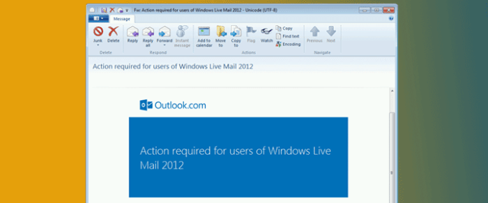 Do you have an Outlook.com email address running on Windows Live Mail 2012?