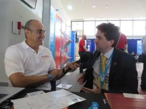 Chris Jeffery, Proprietor/Chief Guru of CyberGuru being interviewed by Anthony Frangi, Founding Director of Pop Up Radio Australia