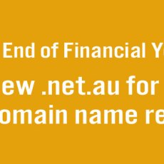 .net.au domain names half price for the next week only