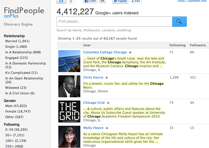Find People on Google Plus