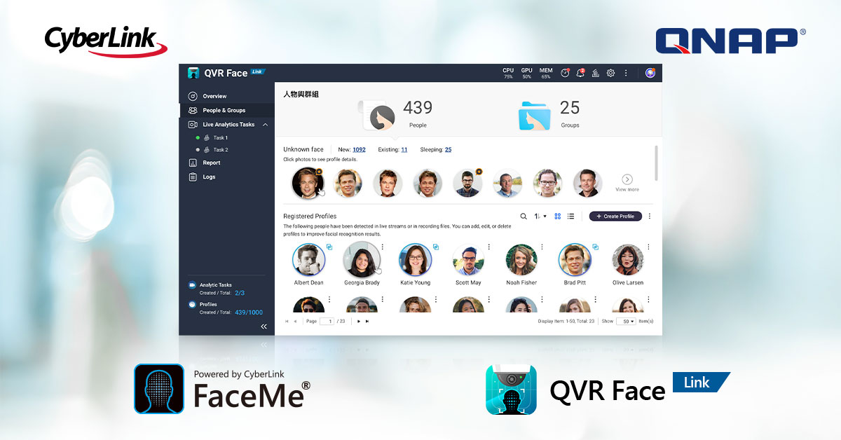 CyberLink Partners with QNAP to Develop a Smart Facial Recognition Solution for Surveillance and Security