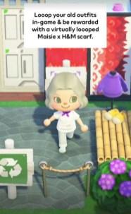 H&M e Maisie Williams sbarcano in Animal Crossing New Horizons (4)