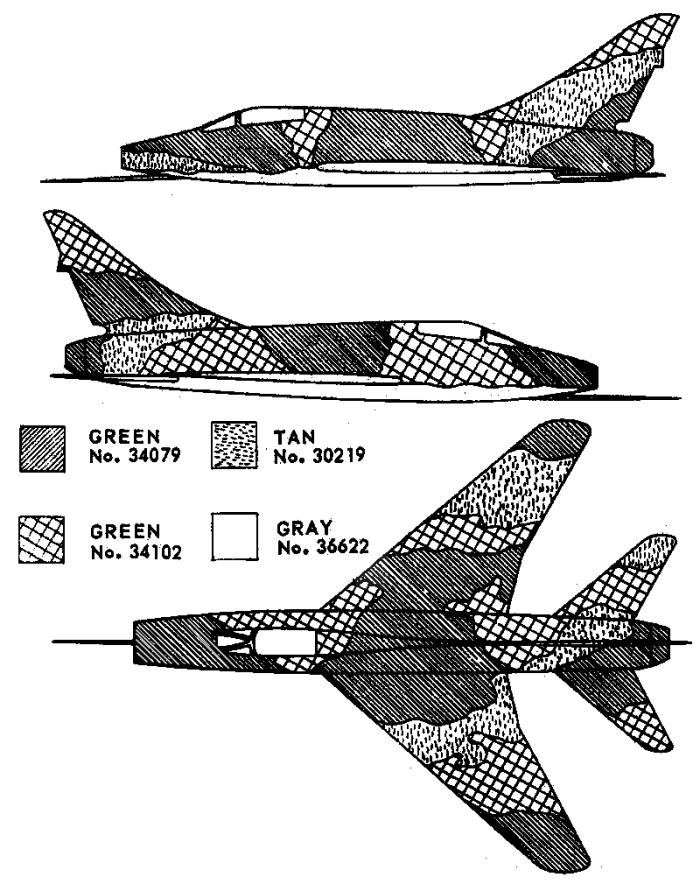 North American F-100 Super Sabre Southeast Asia Camouflage